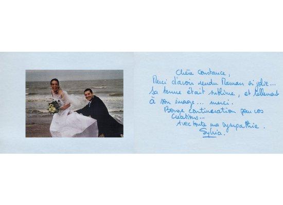Robes de mariée Sylvia mariée en 2001