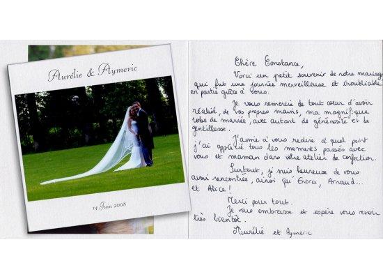 Robes de mariée Aurélie et Aymeric